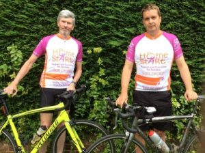 Hugh and Simon Cycling for Home-Start